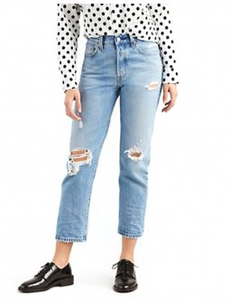 501 CropAuthentically You jean Levi's femme -RF